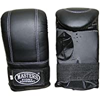 Masters Fight Equipment RP de 2 dispositivo Guantes Saco de arena Guantes Cajas Kickboxing MMA Muay Thai, negro