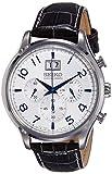 Seiko Herren Analog Quarz Uhr mit Leder Armband SPC155P1