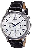 Seiko Herren-Armbanduhr XL Chronograph Herren Analog Quarz Leder SPC155P1