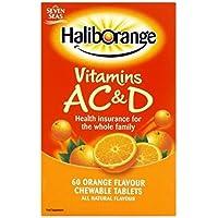 Seven SeasHaliborange Vitamine A, C E D Sapore D'Arancia - 60 Compresse Masticabili