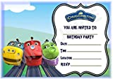 Chuggington Birthday Party Invites - Landscape Frame Design - Party decorations / Accessories (Pack of 12 A5 Invitations) (WITH Envelopes)