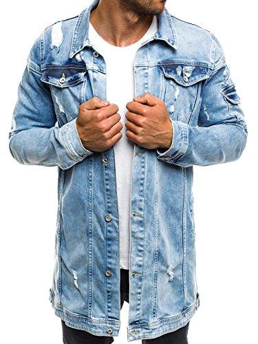 OZONEE Herren Jeansjacke Übergangsjacke Jacke Denim Sweats Sweatjacke Frühlingsjacke Jeans OTANTIK 474