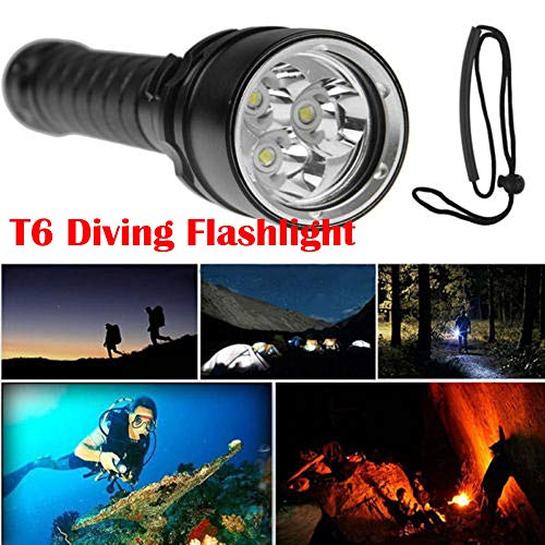 TAOtTAO Professionelle Tiefe Tauchlampe XML T6 LED Wasserdichte -