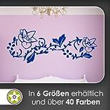 Blume - Ranken Wandtattoo in 6 Größen - Wandaufkleber Wall Sticker