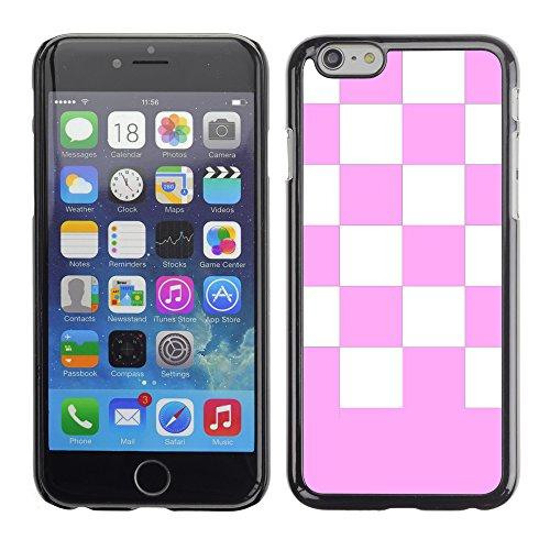 Graphic4You Kariert Muster Design Harte Hülle Case Tasche Schutzhülle für Apple iPhone 6 / 6S (Rot) Rosa