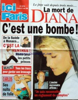 AFFICHE DE PRESSE [No 2773] du 26/08/1998 - LA MORT DE DIANA - DE LA SUEDE A MONACO - LA RENTREE DES PRINCES - CARLOS.