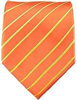 Orange XL Krawatte 100% Seidenkrawatte (extra lange 165cm) von Paul Malone