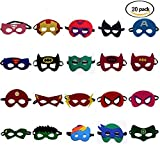 Superheld Masken Super Masken Weihnachten Maske Superheld Cosplay Party Augenmasken 20 Stück Filz Masken Masken - latexfrei, perfekt für Kinder ab 3 Jahren