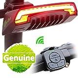 tobole Fahrrad-Vorderlampe, Rücklicht Akku mit Fernbedienung, wasserfest Projektor der alle: Mountain Bike Fahrrad Fahrrad, Rennrad, Fahrrad der Stadt