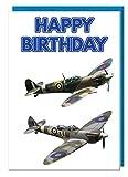 Geburtstagskarte–Flugzeug Spitfire Motto–Dad–Mann–Brother–Sohn–Grandad–Boyfriend