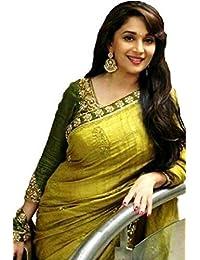 Aracruz Green Bhagalpuri Silk Embroidered Saree With Blouse Piece