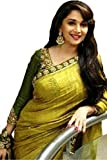 #10: Sarees (Women's Clothing Saree For Women Latest Design Wear Sarees New Collection in green Coloured Bhagalpuri Silk Material Latest Saree With Designer Blouse Free Size Beautiful Madhuri Bollywood Saree For Women Party Wear Offer Designer Sarees With Blouse Piece Buy Online Today Special Offers Sale Sarees below 500)