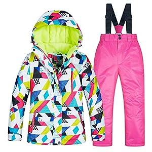 YyZCL Schneeanzug Skijacke Hose Winter Kinder Skianzug Set dick warm und Winddicht wasserdicht für Jungen Mädchen Kinder