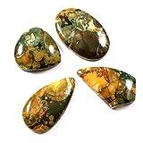 Gems&JewelsHub 97.85CTS 100% naturale mix Riolite pietra preziosa sciolto cabochon 4pz lotto all' ingrosso
