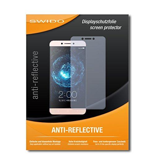 SWIDO Schutzfolie für LeEco Le 2 Pro [2 Stück] Anti-Reflex MATT Entspiegelnd, Hoher Härtegrad, Schutz vor Kratzer/Bildschirmschutz, Bildschirmschutzfolie, Panzerglas-Folie