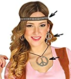 Guirca Conjunto Hippie de Pendientes, Collar y Cinta