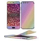 Urcover Huawei P10 Plus Glitzer-Folie zum Aufkleben | Folie in Rainbow | Zubehör Glitzerhülle Handyskin Diamond Funkeln Schutzfolie Handy-schutz Luxus Bling Glamourös