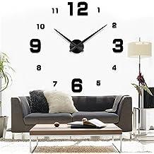 carré noir horloge murale