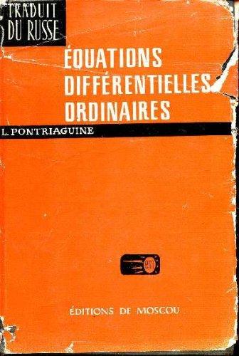 EQUATIONS DIFFERENTIELLES ORDINAIRES.