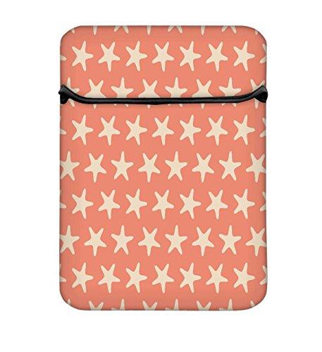 Snoogg mehrere Sterne orange Muster 25,4cm einfachen Zugang Gepolstertes Laptop Schutzhülle Flip...