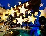 LUCKY GODDESS Bianco caldo stella proiettore lampada impermeabile bianco caldo stella modello vacanze di Natale all'aperto decking illuminazione