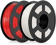 Filamento PLA 1,75 mm, Filamento PLA para impresora 3D, Filamento PLA 1 KG (2,2 lb) Negro blanco violeta rosa