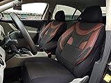 Sitzbezüge k-maniac | Universal schwarz-rot | Autositzbezüge Set Vordersitze | Autozubehör Innenraum | Auto Zubehör für Frauen und Männer | V330642 | Kfz Tuning | Sitzbezug | Sitzschoner