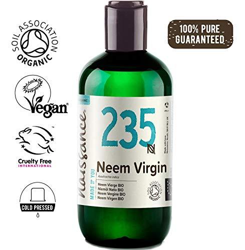Naissance Huile de Neem Vierge BIO (n° 235) - 250ml - 100% pure et naturelle, pressée à froid et non-raffinée