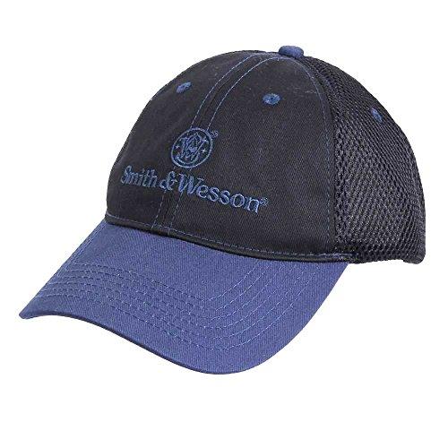 smith-wesson-logo-kappe-schwarz-und-blau-mit-netzeinstzen
