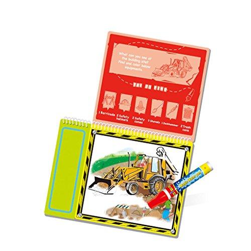 Bobury Transport Themed Wasser Zeichnung Buch mit 1 Magic Pen Wasser Malerei Board Spielzeug (Papier Schriftlich Board)