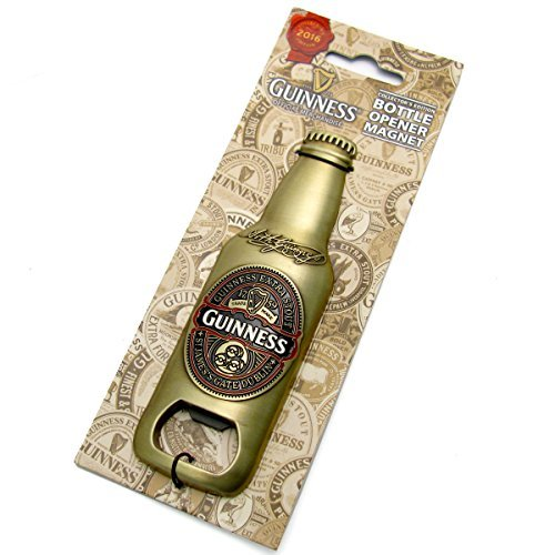 Guinness 2016 - 3D-Flasche mit Flaschenöffner Souvenir mit Kühlschrankmagnet (Guinness Flaschenöffner Magnet)