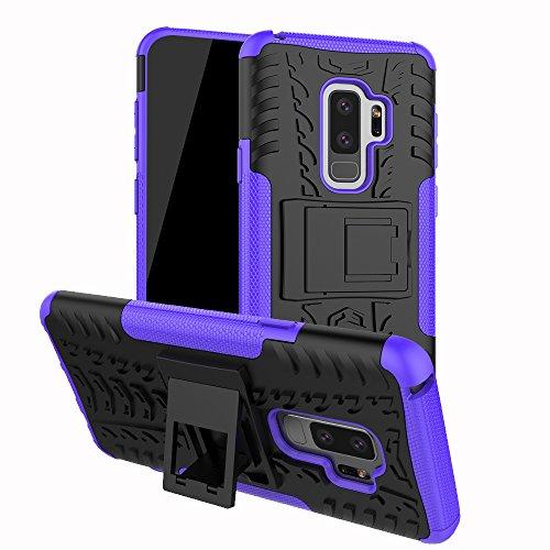 Samsung Galaxy S9 Plus Hülle,Samsung Galaxy S9 Plus case,Roreikes Hyun Muster Schutzhülle Etui Dual Layer Hybrid Rüstung 2 in 1 Stoßfest Handy Tasche Silikon Haut Abdeckung Cover Tough Strong Rugged - Eine Richtung Samsung Fällen