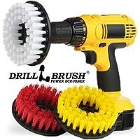 Drill Brush Power Scrubber Azulejo y la lechada Baño, kit de limpieza 3