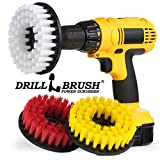 Drill Brush Power Scrubber Fliesen und Fugen Bad, Boden 3 Cleaning Kit