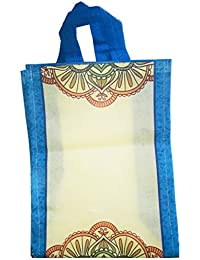 AVR's Reusable Wedding Bag Blue With White Coloured Pack Of 10