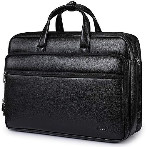 S-ZONE 39,6cm Laptop großes Fassungsvermögen und Multifunktionell Messenger Business schwarz schwarz Large