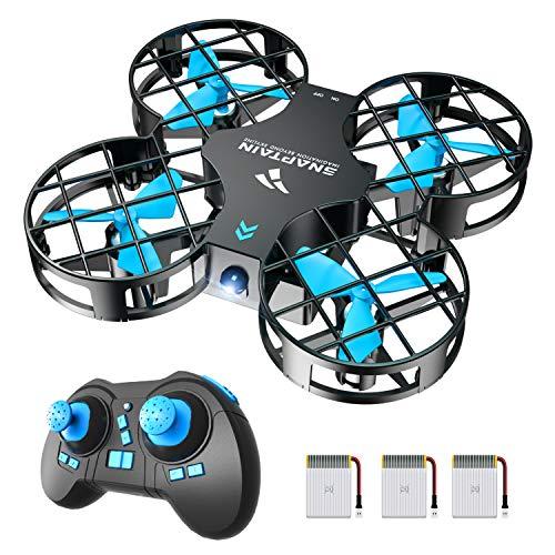 SNAPTAIN Mini Drohne H823H Plus mit 3 Akkus für 21 Minuten Flugzeit, RC Drone, Quadrocopter Mini Helikopter mit Höhehalten, Kopflos Modus, 3D Flips und 3 Geschwindigkeitsmodi für Kinder