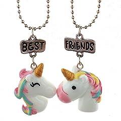 Idea Regalo - Collana Best Friends Forever Colorato Unicorno Amicizia Collane Set per ragazze bambina