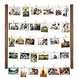 Halcent Bilderrahmen Fotorahmen Collage Wanddekoration, Holz Fotocollage Fotowand Holzbilderrahmen