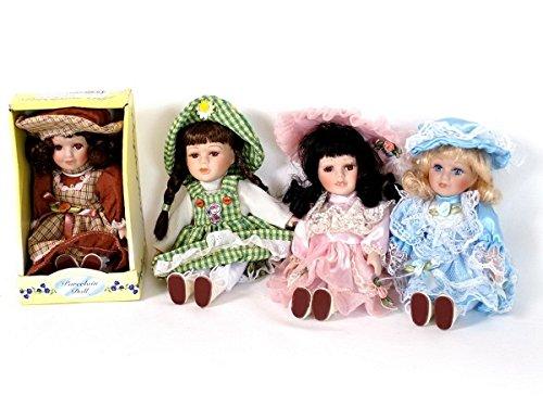 Porzelan Puppen 4er Set (Hübsches Puppen Porzellan)