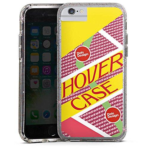 Apple iPhone X Bumper Hülle Bumper Case Glitzer Hülle Zukunft Hoverboard Future Bumper Case Glitzer rose gold