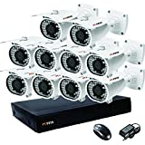 Puffin HD CCTV Camera Night Vision Waterproof 10 Bullet Camera 1000TVL & 16-channel 1 DVR with 1 Year warranty