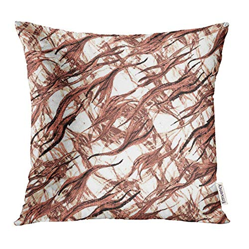 WBinHua Zierkissenbezüge, Throw Pillow Covers, Brown Africa Animal Skin Watercolor Faux Fur Allover Ink Pattern African Camouflage Print Pillowcases 18