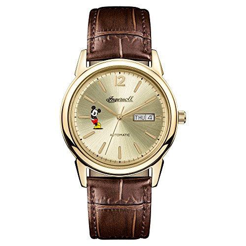 Ingersoll Disney Women's The New Haven Union Quartz Watch with Cream Dial and Brown Leather Strap ID00202