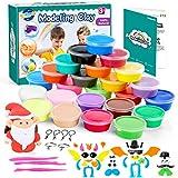 WinWonder Kit di Argilla per Bambini,Argilla Magica Ultraleggera Ultraleggera 24 Colori DIY Strumenti di Modellatura Non Appiccicosi,Ottimo Regalo per Bambini e Adulti