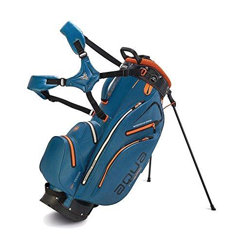 BIG MAX AQUA Hybrid Golf Stand & Cartbag 2018 - 100% Wasserdicht (Petrol/Black/Orange) -
