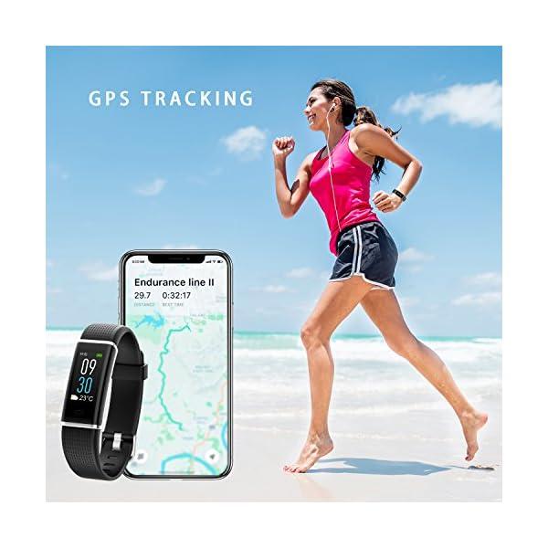 NAIXUES Smartwatch, Reloj Inteligente IP67 con Presión Arterial, 10 Modos de Deporte, Pulsómetro, Monitor de Sueño, Notificaciones Inteligentes, Smartwatch Hombre Mujer para iOS y Android (negro2) 5