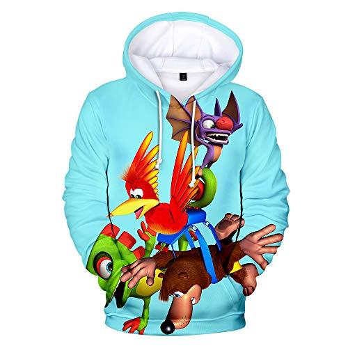 Denkqi Unisex 3D Druck Hoodie Kapuzenpullover Langarm Sweatshirt Kapuzenjacke Mit Tunnelzug Pullover Taschen Top Shirt Weihnachten Herbst Banjo Kazooie Nuts and Bolts L -