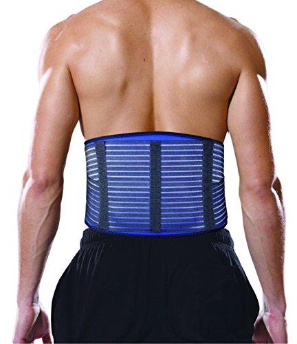 Bonmedico® Virtus, comodo busto con cuscinetto in gel per stabilizzare e donare sollievo alle vertebre lombari, a casa o al lavoro, a riposo o in movimento, supporto lombare regolabile da uomo e donna