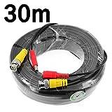Genérico de vídeo BNC y de alimentación de CC Cable de extensión / plomo con Conector para cámara de vigilancia Cámaras / CCTV Seguridad Conector 30m